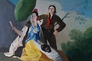 L'Ombrelle d'après Francisco goya. Richard Boucris