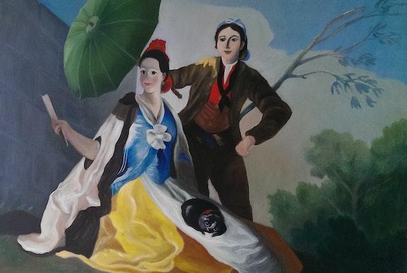 L'Ombrelle d'après Francisco goya. Richard Boucris Richard Boucris