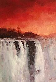 Atardecer en Iguazú.