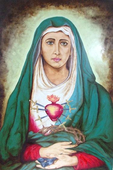 «Madre Mia Dolorosa» Replica de la Dolorosa del Colegio.. Patricio Guillermo Ortega Aulestia