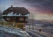 Winterliche Abendsonne. Hofmannsart