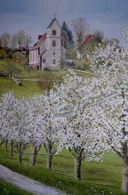 Kirschblüte in Ottoschwanden.