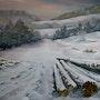 Winterlandschaft im Abendlicht. Hofmannsart