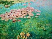 Waterlilies, Kingsnorth gardens Folkestone.. F Aouni