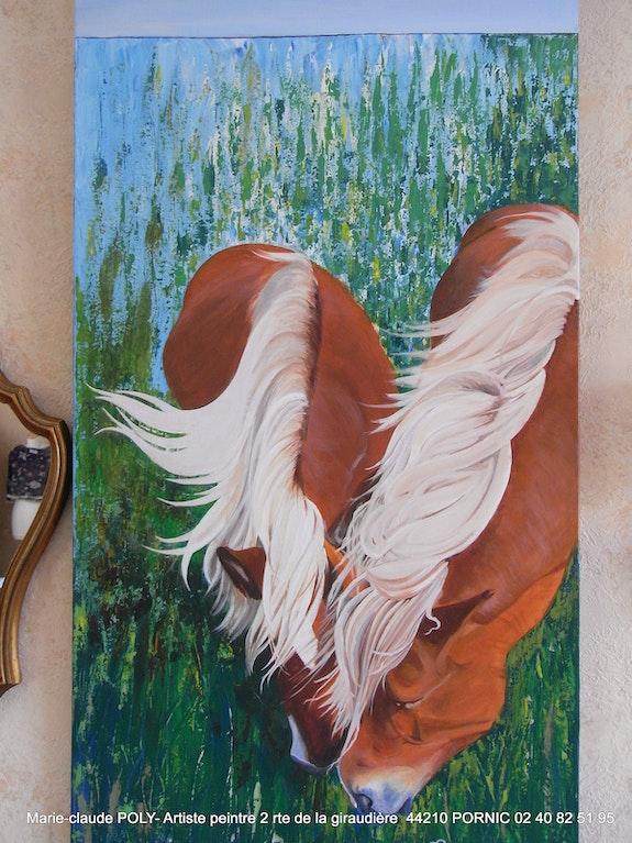 Couple de chevaux. Poly Marie-Claude Mcpoly