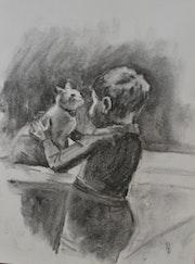 L'enfant et le chat.