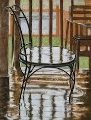 Jour de pluie sur la terrasse.