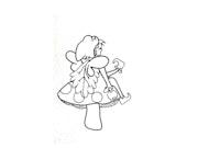 Elfe sur son champignon. Marie Line Miette