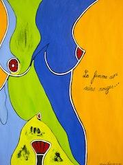 «La femme aux seins rouges». Régine Faïk