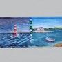 Paysages breton acrylique sur toile.. Leroy Philippe