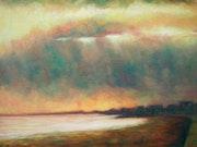 Sunset on Sandgate beach.. F Aouni