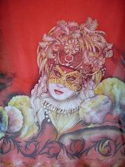 Masque vénitien foulard. Chrissoie