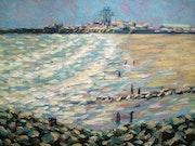 The sandy beach, Folkestone.. F Aouni