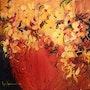 Tableau de Luce lamoureux - Essence de fleurs - Acrylique sur toile. Art'et Miss