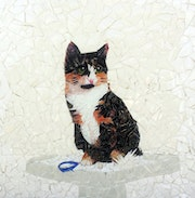 Calico cat. Joy Helm Riley