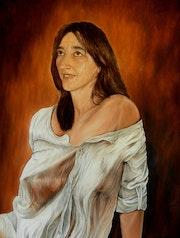 M, le Portrait, huile sur toile, 61x50 cm 2014.. Boré Ivanoff