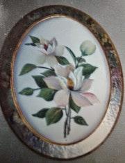 Flor en tela. M. Pilar