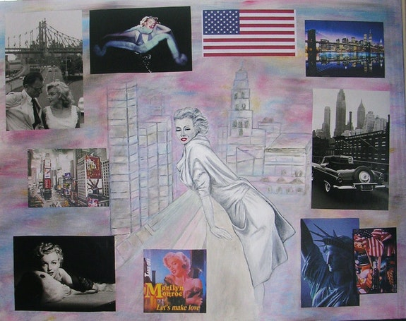 Marilyn au balcon. Ghislaine Phelut-Sanchez Ghislaine Phelut