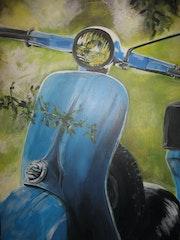 «La vespa» Acrylique 2013.