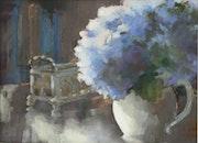 Bouquet bleu.