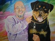 Le sauveur et son chien.