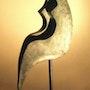 Clair de Lune sur socle marbre. Sonia Mandel Mon Atelier. «La Rose Des Vents»