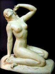 Statue Art Nouveau. Marc Menzoyan Antiquités