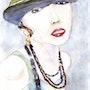 Jeune femme au chapeau. Marie-Noel Toulon