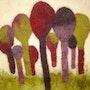 Forêt colorée. Erika Méan