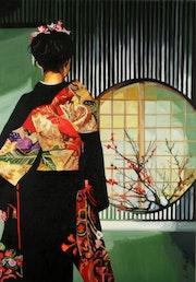 Geisha a la fenetre.