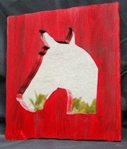 Miroir tête de cheval. Eskuz Holakatua