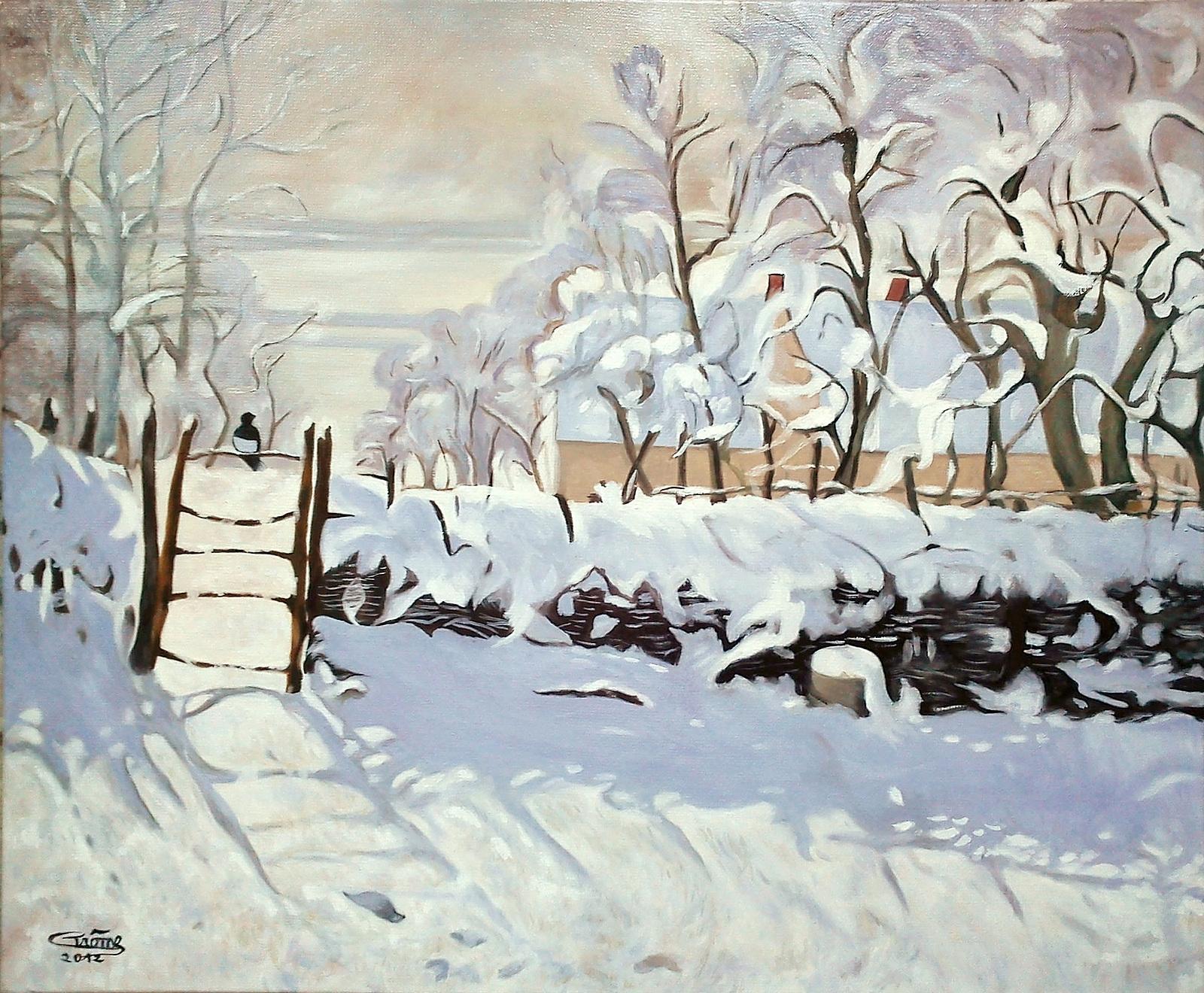 Paintings La Pie De Claude Monet Autre Version Page 39 Xixth C Art And Older