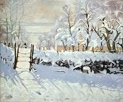 La Pie de Claude Monet- autre version.