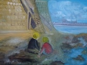 Les enfants à la plage. Herminia Duruy