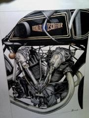 Koehler escoffier 1000cc 1929. Sébastien Chauvin