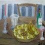 Le panier avec les pommes vertes.. Herminia Duruy