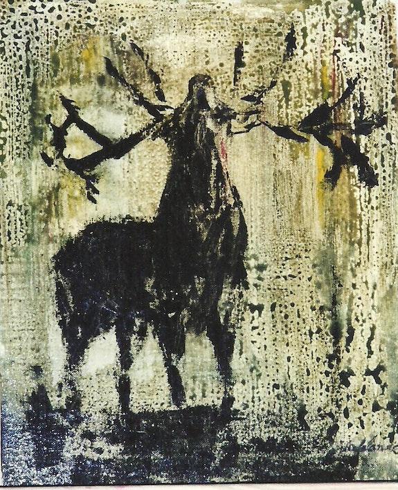 Le cerf. Annick Lalande Annick