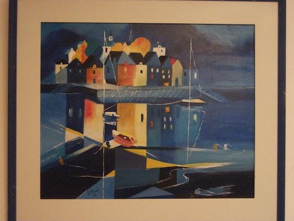 Le reflet du port la nuit. Vernois Vernois Isabelle
