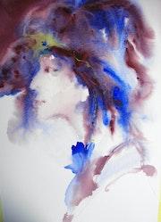 Visage femme profil. Maryse Berthouloux