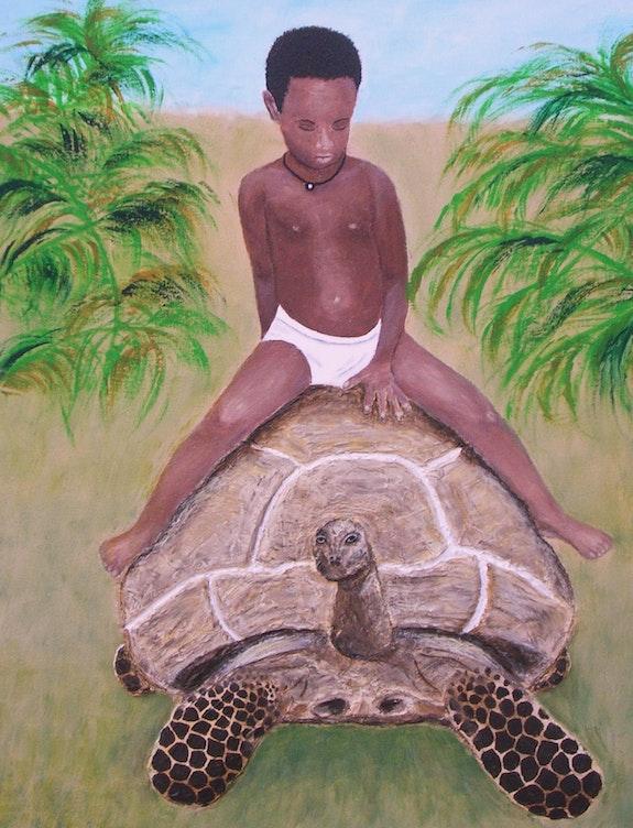 L'enfant et la tortue. Ghislaine Phelut-Sanchez Ghislaine Phelut