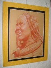 Portrait jeune femme Himba 120113. Philippe Flohic