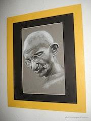 Mahatma Gandhi. Philippe Flohic