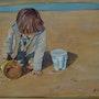 Petit garçon sur la plage. Patrick Eloy