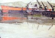Chantier naval à Rouen.