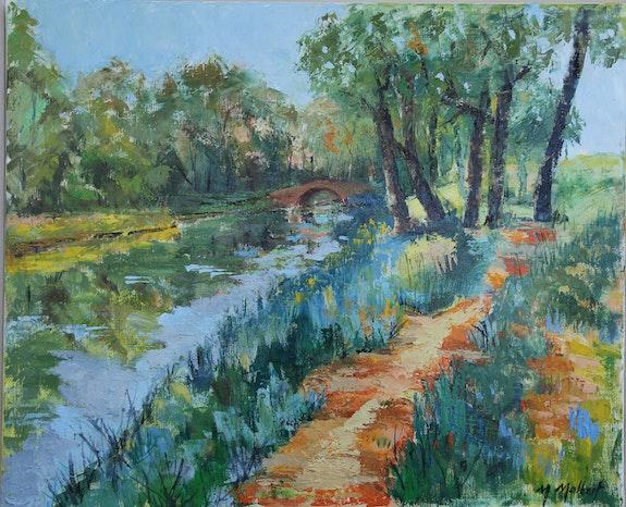 Petit pont canal du midi. Monique Malbert Monique Malbert