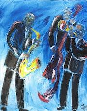 Jazz band la blue note. Michel Gay