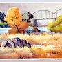 Autumn Bridge - (aq 0078). The William Frederick Brooks Collections