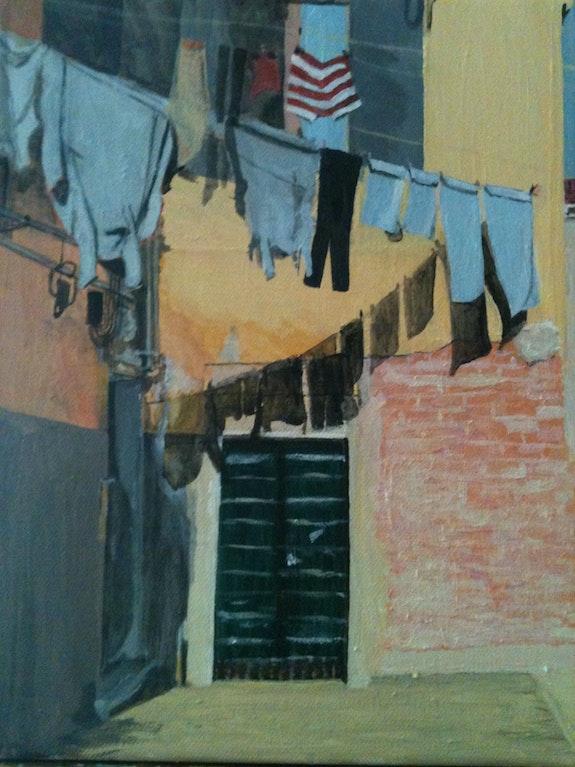 Washing in Venice.  Ann Carole Fletcher