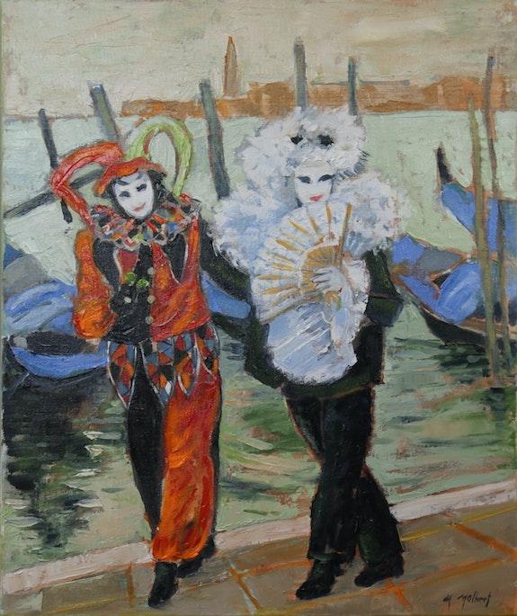 Carnaval deVenise, masques noir et rouge. Monique Malbert Monique Malbert
