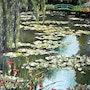 Les nymphéas-Chez Claude Monet-Giverny / Water Lilies Claude Monet-At-Giverny. Gérard Pichet